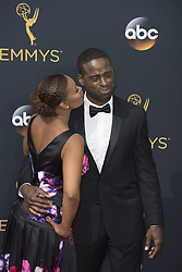 September 18, 2016 - Los Angeles, California, U.S. - RYAN MICHELLE BATHE, left, and STERLING K. BROWN arrives for the 68th Annual Primetime Emmy Awards, held at the Nokia Theatre. (Credit Image: © Kevin Sullivan via ZUMA Wire)