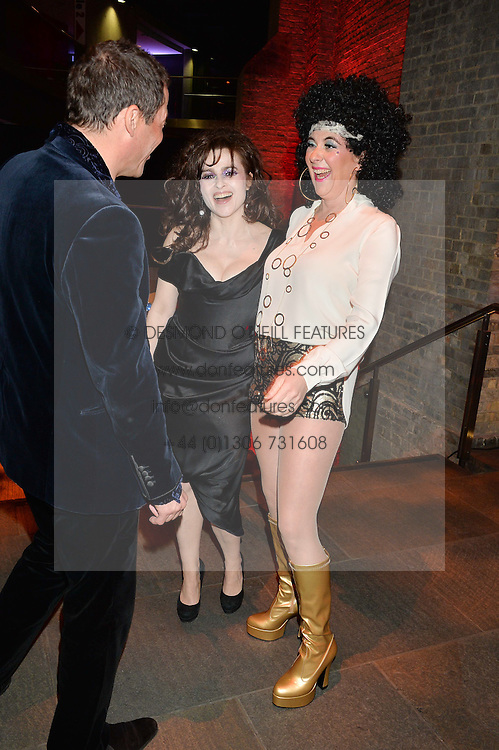 Left to right, DOMINIC WEST, HELENA BONHAM-CARTER and COUNTESS DORA della GHERARDESCA at a Night of Disco in aid of Save The Children held at The Roundhouse, Chalk Farm Road, London on 5th March 2015.