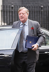 © London News Pictures. 01/11/2011. London, UK. Lord Chancellor and Secretary of State for Justice Kenneth Clarke arriving at 10 Downing Street this morning (01/11/2011) for a cabinet meeting. Photo credit: Ben Cawthra/LNP