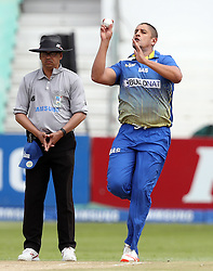 Rory Kleinveldt of BuildNat Cape Cobras during the T20 Challenge cricket match between the Dolphins and the Cobras at the Kingsmead stadium in Durban, KwaZulu Natal, South Africa on the 4th December 2016<br /> <br /> Photo by:   Steve Haag / Real Time Images