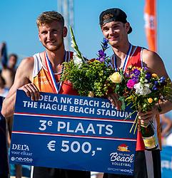 25-08-2019 NED: DELA NK Beach Volleyball, Scheveningen<br /> Last day NK Beachvolleyball / Jasper Bouter #1 , Ruben Penninga #2