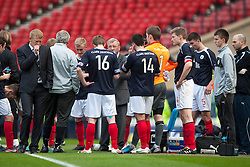 Falkirk before extra time..Hibernian 4 v 3 Falkirk, William Hill Scottish Cup Semi Final, Hampden Park..©Michael Schofield..