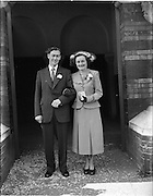 02/09/1952<br /> 09/02/1952<br /> 02 September 1952<br /> Wedding: Thomas Meade, Slane Co. Meath and Miss Joan Goggin, Slane Co Meath at University Church, 87A St Stephen's Green, Dublin, and reception at Russell Hotel St. Stephens Green.