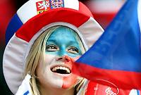 GEPA-0706086019 - BASEL,SCHWEIZ,07.JUN.08 - FUSSBALL - UEFA Europameisterschaft, EURO 2008, Schweiz vs Tschechien, SUI vs CZE. Bild zeigt einen Fan von Tschechien.<br />Foto: GEPA pictures/ Philipp Schalber