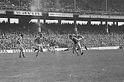 Group of players  make a run for the slitor during at the All Ireland Senior Hurling Final, Cork v Kilkenny in Croke Park on the 3rd September 1972. Kilkenny 3-24, Cork 5-11.