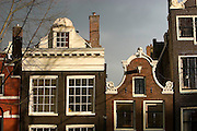 Traditional Amsterdam houses on the Prinsengracht canals