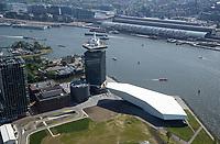 AMSTERDAM -  Amsterdam Tower met Eye filmmuseum en het Ctraal Station,    COPYRIGHT  KOEN SUYK