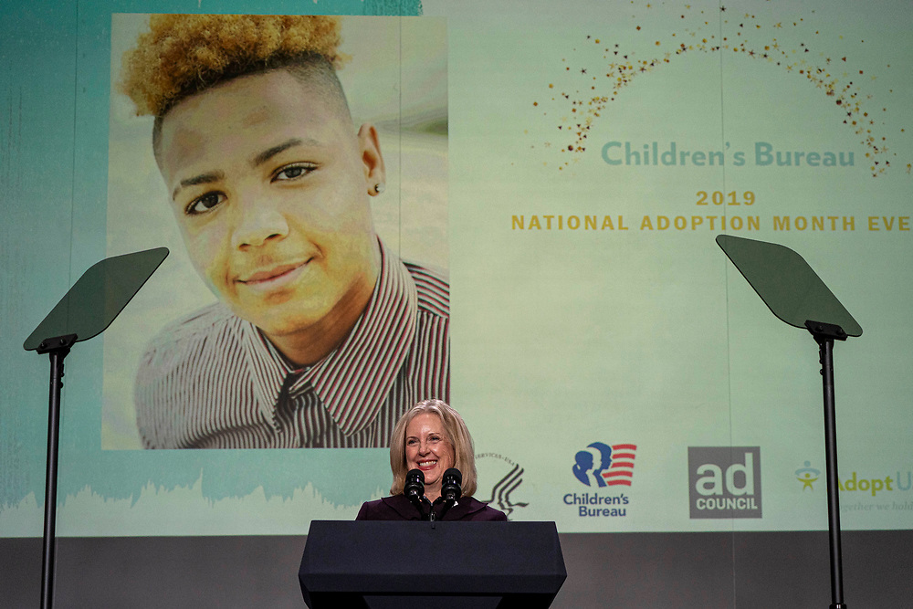 National Adoption Month Celebration in the Health and Human Service's Great Hall of the Hubert H. Humphrey Building in Washington DC, Tuesday, Nov. 12, 2019. Photo by Ken Cedeno