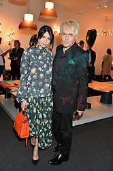 NICK RHODES and NEFER SUVIO at the PAD London 10th Anniversary Collector's Preview, Berkeley Square, London on 3rd October 2016.