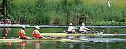 Lucerne, SWITZERLAND.  Women's Pair Final USA W2-, at the  2008 FISA World Cup Regatta, Round 2.  Lake Rotsee, on Sunday, 01/06/2008.  [Mandatory Credit:  Peter Spurrier/Intersport Images].Lucerne International Regatta. Rowing Course, Lake Rottsee, Lucerne, SWITZERLAND.