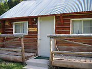 Honeymoon suite cabin at the Sulphur Creek Ranch in central Idaho