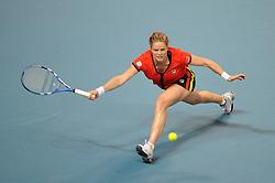 06-02-2011 TENNIS: FEDCUP BELGIUM - USA: ANTWERPEN<br /> Kim Clijsters<br /> **NETHERLANDS ONLY**<br /> ©2011-WWW.FOTOHOOGENDOORN.NL/NPH-LAURENT DUBRULE