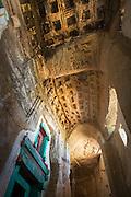 Interior roof to entrance area, Medhane Alem Adi Kesho Church, Adi Kesho, Tigray region. Ethiopia, Horn of Africa