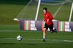 CARDIFF, WALES - Sunday, November 18, 2018: Wales' Daniel James during a training session at the Vale Resort ahead of the International Friendly match between Albania and Wales. (Pic by David Rawcliffe/Propaganda)