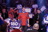SuperChin, Daryl Gurney prior to his walk-on during the Darts World Championship 2018 at Alexandra Palace, London, United Kingdom on 18 December 2018.