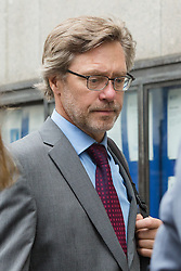 © Licensed to London News Pictures. 23/06/2016. LONDON, UK.  The parents of Jack Letts: John Letts (pictured) and Sally Lane (not pictured) arrive at the Old Bailey charged with terrorist offences.  Both have pleaded not guilty to three counts of making money available knowing or having reasonable cause to suspect that it may be used for a terrorist purpose. Mrs Lane is charged with two further counts of attempting to provide money knowing it may be used to fund terrorism, and has pleaded not guilty to both. Photo credit: Vickie Flores/LNP
