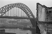Bridge and House Demolishing, Newcastle, England, 1925