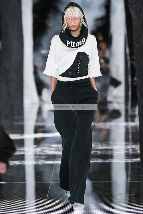 Marjan Jonkman walks the runway wearing PUMA x FENTY by Rihanna Fall 2016 during New York Fashion Week on February 12, 2016