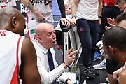 Menetti Massimiliano time out, EA7 Emporio Armani Milano vs Grissin Bon Reggio Emilia LBA Serie A 13^ giornata di ritorno stagione 2016/2017 Mediolanum Forum Assago, Milano 23 aprile 2017