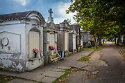 Lafayette Cemetery in the Garden District of New Orleans, Louisiana. Confederate General Harry T. Hays and Samuel Jarvis Peters, a wealthy 19th-century developer of the Garden Distric, are buried in this cemetary, which often appears in Anne Rice's books.