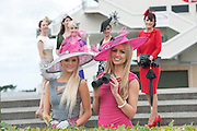 2006 winner Jill Macken from Meath and Rosanna Davison guest judge for this year?s Anthony Ryan?s Best Dressed Lady Competition at the launch of the  Anthony Ryan?s Best Dressed Lady on the 2nd of August 2012  at the Galway Races. Photo:Andrew Downes.