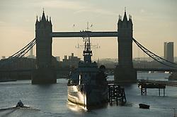 © London News Pictures. 03/04/15. London, UK. Sunrise over Tower Bridge, City of London. Photo credit: Laura Lean/LNP