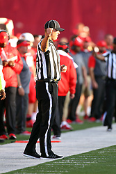 03 September 2016:  Linesman Paul Janus. NCAA FCS Football game between Valparaiso Crusaders and Illinois State Redbirds at Hancock Stadium in Normal IL (Photo by Alan Look)