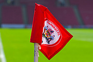 A view of a Barnsley FC corner flag before the EFL Sky Bet League 1 match between Barnsley and Shrewsbury Town at Oakwell, Barnsley, England on 19 April 2019.