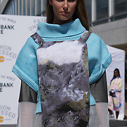 London,England,UK: 23th July 2016: Model Sasha Kyriacou of the Oxygen Model Agency wearing Designer of Hackney-based charity Fashion Awareness Direct (FAD) catwalk at the Fashion Undressed with MasterCard at the Royal Festival Hall, Southbank, London,UK. Photo by See Li