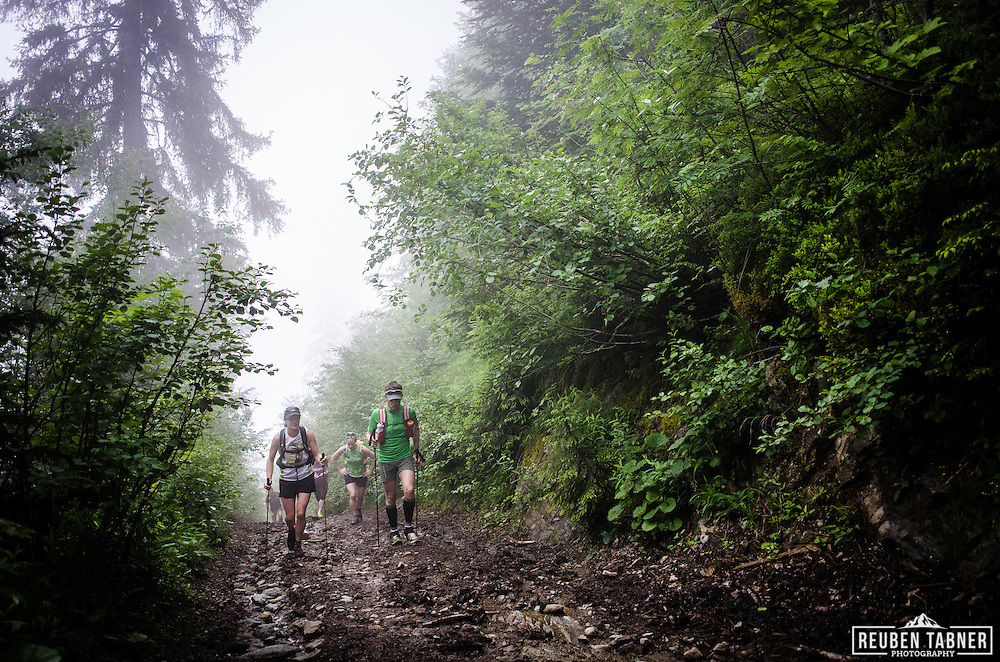 The Trail Running Team, run through the Chamonix Valley in France on a Alpine Training Weekend.