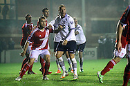 Bolton's Eidur Gudjohnsen ©  in action. Barclays U21 Premier league match, Bolton Wanderers U21's  v Middlesbrough U21's at The Leyland county ground in Bolton, Lancs on Monday 1st December 2014.<br /> pic by Chris Stading, Andrew Orchard sports photography.