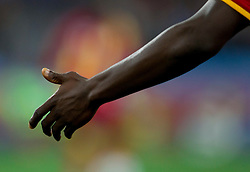 Black man hand during the  2010 FIFA World Cup South Africa Quarter Finals football match between Uruguay and Ghana on July 02, 2010 at Soccer City Stadium in Sowetto, suburb of Johannesburg. Uruguay defeated Ghana after penalty shots. (Photo by Vid Ponikvar / Sportida)