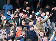 Manchester City's fans celebrate at the final whistle<br /> <br /> - Barclays Premier League - Manchester City vs Manchester Utd - Etihad Stadium - Manchester - England - 2nd November 2014  - Picture David Klein/Sportimage