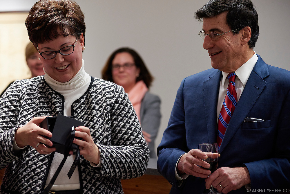 Farewell paty for outgoing Executive Director Kathryn Ott Lovell at the Wells Fargo History Museum<br /> 123 S Broad St<br /> January 15, 2016