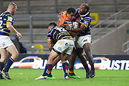 No way through for Junior Moors of Castleford  during the Betfred Super League match between Leeds Rhinos and Castleford Tigers at Emerald Headingley Stadium, Leeds, United Kingdom on 26 October 2020.