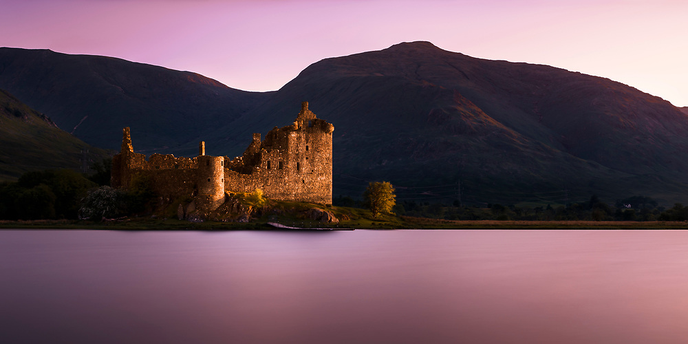 The ruins of Kilchurn Castle are situated at the northern end of Loch Awe in Argyll & Bute.
