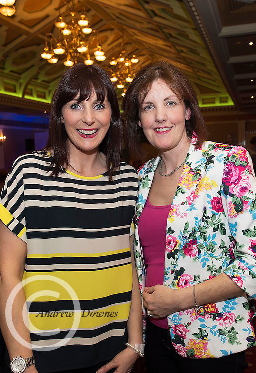 Siobhan Noone and Aileen O Grady from Nogra, Kinvara at A Vintage and Pre-Loved Fashion Extravaganza held in the Lady Gregory Hotel in Gort . A fundraising event organised by the Parents Council for Seamount's new pitch.  Photo:Andrew Downes