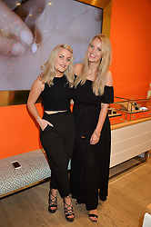 Left to right, Blogger AMY BELL and ALEXANDRA LIGHT at a Hello! magazine and Folli Follie shopping evening at Folli Follie, 493 Oxford Street, London on 25th August 2016.