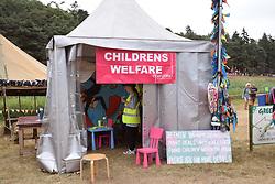 Latitude Festival, Henham Park, Suffolk, UK July 2019. Childrens welfare tent in kids area