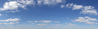 very large blue sky with white clouds