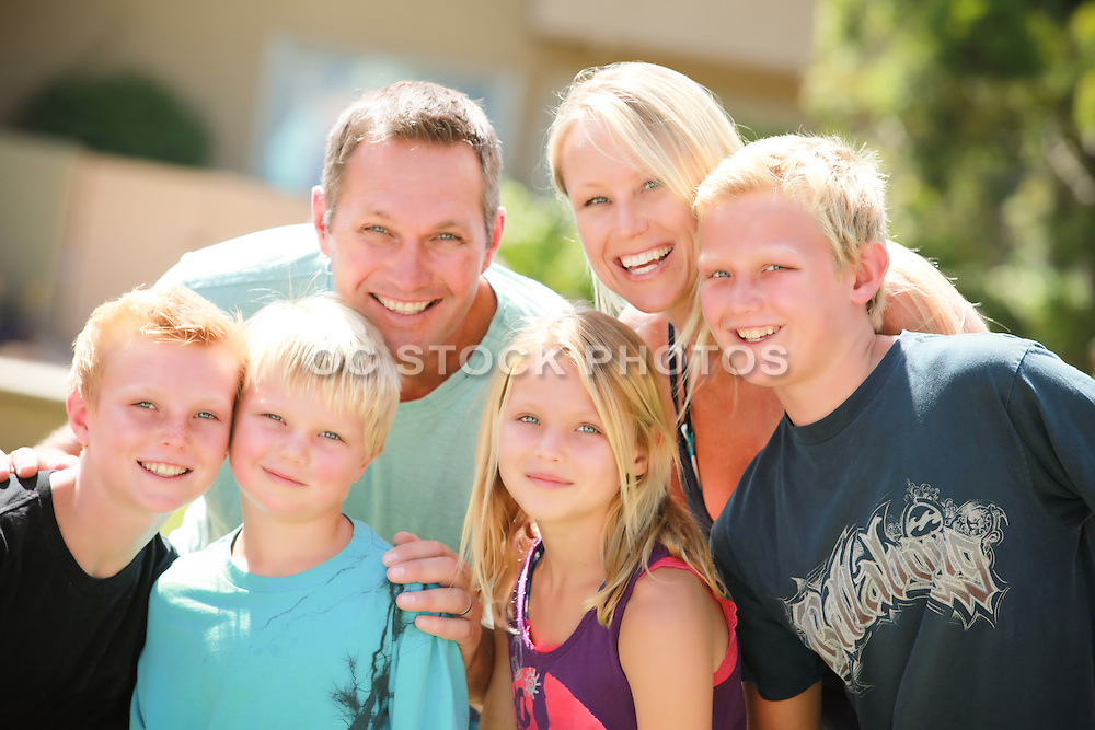 Attractive and Happy Family