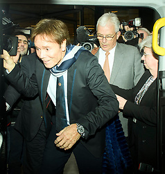 © Licensed to London News Pictures. 13/04/2018. London, UK. SIR CLIFF RICHARD leaves the Rolls Building of the High Court in London after giving evidence is a case where he is claiming damages against the BBC for loss of earnings. The 77-year-old singer is suing the corporation after his home in Sunningdale, Berkshire was raided following allegations of sexual assault made to Metropolitan Police. Photo credit: Ben Cawthra/LNP