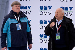 Drago Bahun and Janez Kocijancic at Closing ceremony after Flying Hill Team Second Round at 4th day of FIS Ski Flying World Championships Planica 2010, on March 21, 2010, Planica, Slovenia.  (Photo by Vid Ponikvar / Sportida)