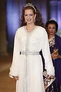 Afscheidsdiner Koningin Beatrix in Rijksmuseum. Het afscheidsdiner wordt gehouden in de Eregalerij van het 2 weken geleden door de koningin heropende museum. <br /> <br /> Farewell Dinner Queen Beatrix at Rijksmuseum. The farewell dinner will be held in the Hall of Fame of two weeks ago reopened by the Queen museum.<br /> <br /> Op de foto / On the Photo:  Prinses Lalla Salma van Marokko / Princess Lalla Salma of Morocco