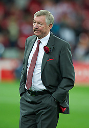 28.05.2011, Wembley Stadium, London, ENG, UEFA CHAMPIONSLEAGUE FINALE 2011, FC Barcelona (ESP) vs Manchester United (ENG), im Bild Manchester United's manager Alex Ferguson looks utterly dejected as his side are outclassed by FC Barcelona 3-1 during the UEFA Champions League Final at Wembley Stadium, EXPA Pictures © 2011, PhotoCredit: EXPA/ Propaganda/ Chris Brunskill *** ATTENTION *** UK OUT!