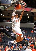 Nov. 15, 2010; Charlottesville, VA, USA; USC Upstate Spartans guard Tony Dukes (25) dunks the ball during the game against the USC Upstate Spartans at the John Paul Jones Arena. Virginia won 74-54. Mandatory Credit: Andrew Shurtleff