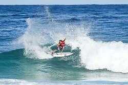Sebastian Zietz of Hawaii will surf in Round Two of the 2017 Billabong Pipe Masters after placing second in Heat 1 of Round One at Pipe, Oahu, Hawaii, USA