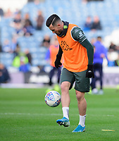 Leeds United's Jack Harrison during the pre-match warm-up <br /> <br /> Photographer Chris Vaughan - CameraSport<br /> <br /> The EFL Sky Bet Championship - Huddersfield Town v Leeds United - Saturday 7th December 2019 - John Smith's Stadium - Huddersfield<br /> <br /> World Copyright © 2019 CameraSport. All rights reserved. 43 Linden Ave. Countesthorpe. Leicester. England. LE8 5PG - Tel: +44 (0) 116 277 4147 - admin@camerasport.com - www.camerasport.com