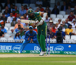 June 11, 2017 - London, United Kingdom - Hashim Amia of South Africe.during the ICC Champions Trophy match Group B between India and South Africa at The Oval in London on June 11, 2017  (Credit Image: © Kieran Galvin/NurPhoto via ZUMA Press)