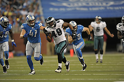 DETROIT - SEPTEMBER 19: Linebacker Jamar Chaney #49 of the Philadelphia Eagles runs during the game against the Detroit Lions on September 19, 2010 at Ford Field in Detroit, Michigan. (Photo by Drew Hallowell/Getty Images)  *** Local Caption *** Jamar Chaney